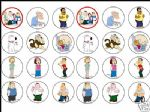 24 mixed Family Guy Cake Top Toppers - 1.6'' ideal size